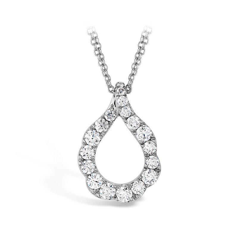 Hearts on Fire 1 ctw. Lorelei Crescent Diamond Pendant