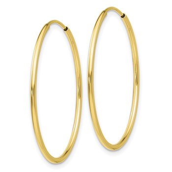 10k Polished Endless Tube Hoop Earrings