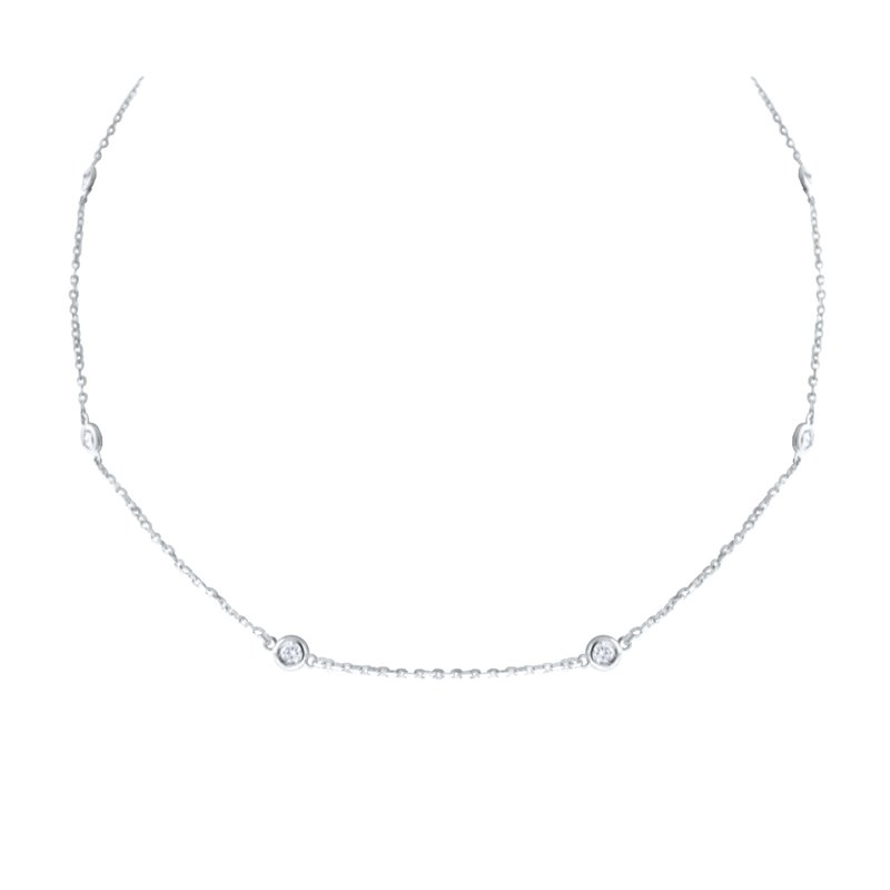 MAZZARESE Fashion 14K Diamond by the Yard Necklace, 18""