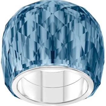Swarovski Nirvana Ring, Blue, Stainless Steel