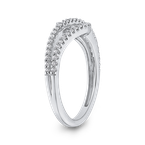 Essentials 10K White Gold Round White Diamond Fashion Ring (1/3 cttw)