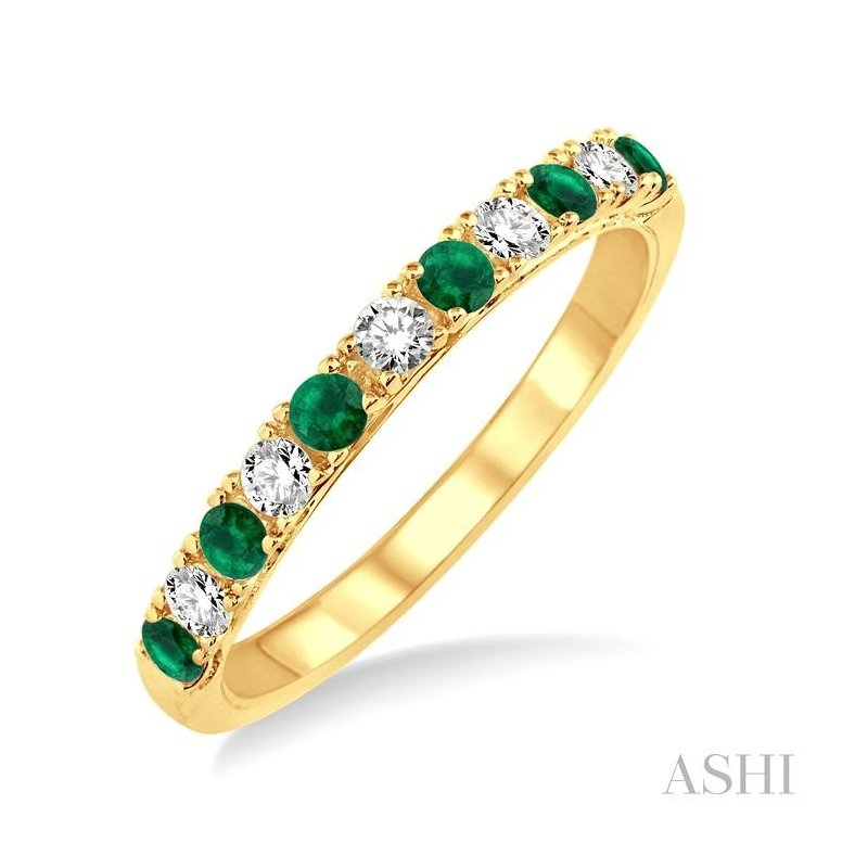 ASHI diamond & gemstone stackable band