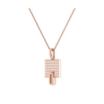 Sidewalk Pendant in 14 KT Rose Gold Vermeil on Sterling Silver