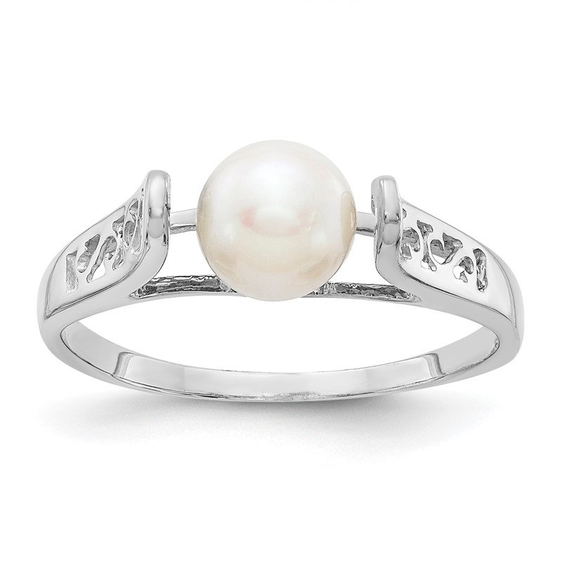 Quality Gold 14k White Gold FW Cultured Pearl Ring