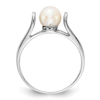 14k White Gold FW Cultured Pearl Ring