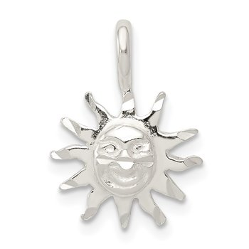 Sterling Silver Sun Charm