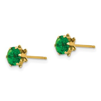 14k Madi K 5mm Synthetic (May) Earrings