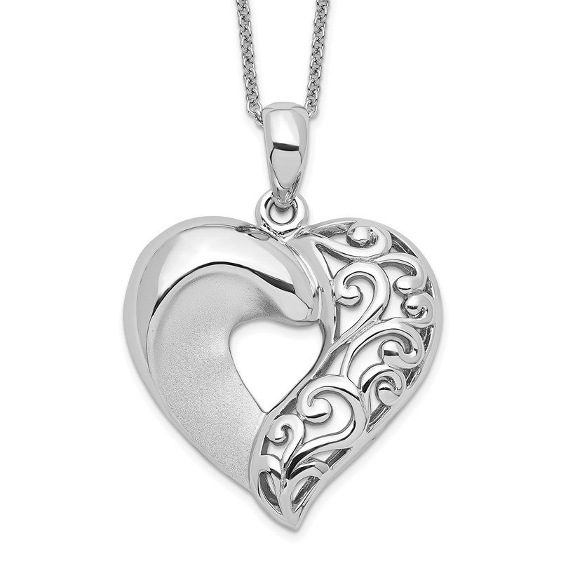 Quality Gold Sterling Silver Close To My Heart 18in Necklace