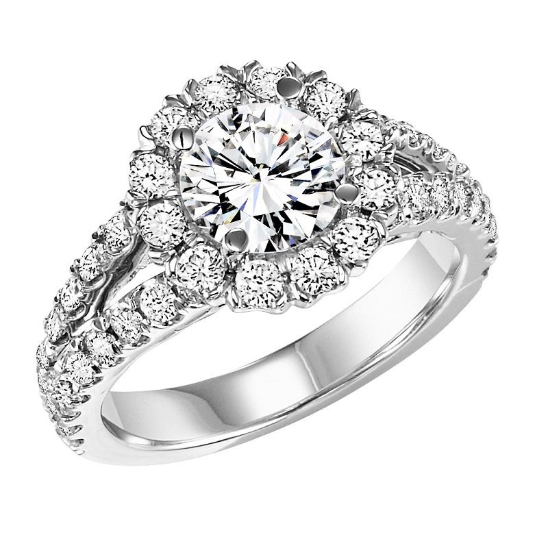 Bridal Bells 14K Diamond Engagement Ring 1 1/7 ctw