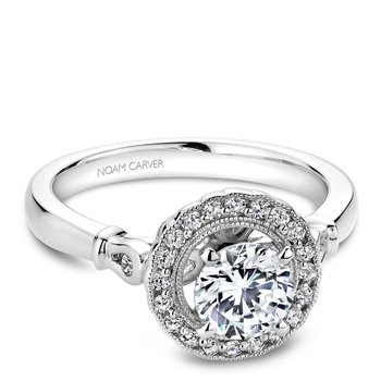Noam Carver Floral Engagement Ring B065-01A