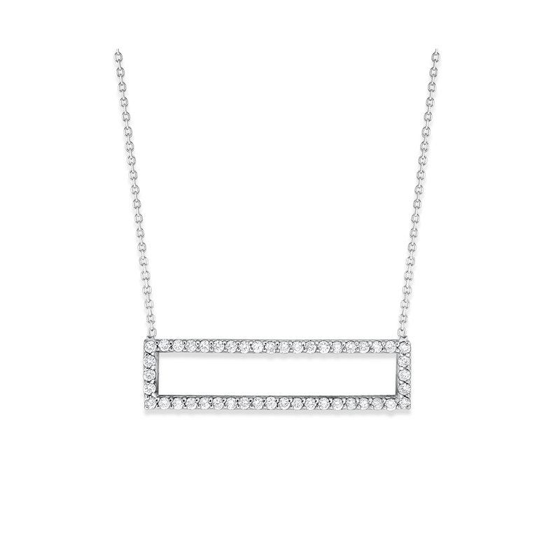 KC Designs 14K Diamond Rectangle Necklace