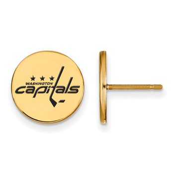 Gold-Plated Sterling Silver Washington Capitals NHL Earrings
