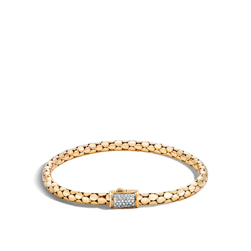 JOHN HARDY Dot 4.5MM Bracelet in 18K Gold with Diamonds