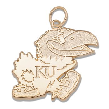 Sterling Silver University of Kansas NCAA Pendant