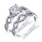 MARS Jewelry MARS 25162 Diamond Engagement Ring 0.18 Ctw.