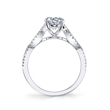 MARS 25162 Diamond Engagement Ring 0.18 Ctw.
