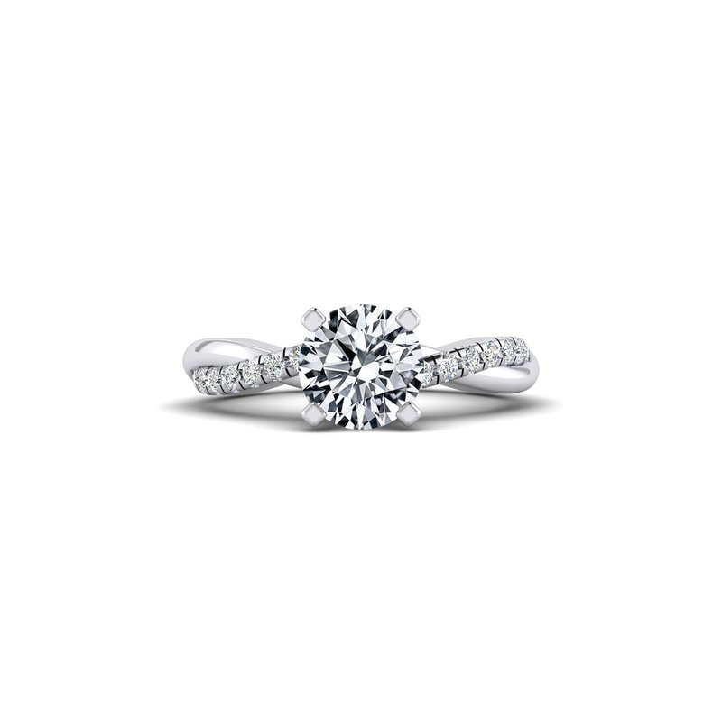 Twisted Diamond Design Engagement Ring
