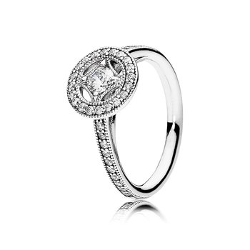 Vintage Allure Ring, Clear Cz