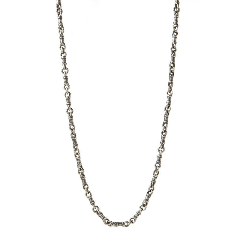 John Varvatos Silver Linked Chain Necklace