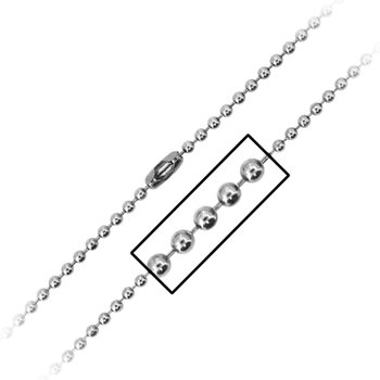 3Mm Ball Chain With Simple Connector