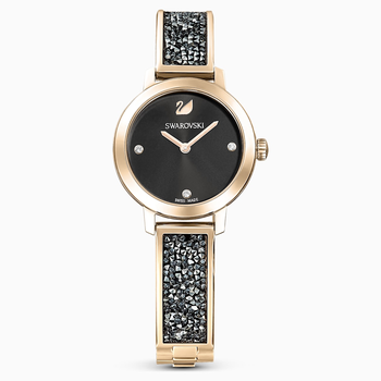 Cosmic Rock Watch, Metal bracelet, Gray, Champagne-gold tone PVD