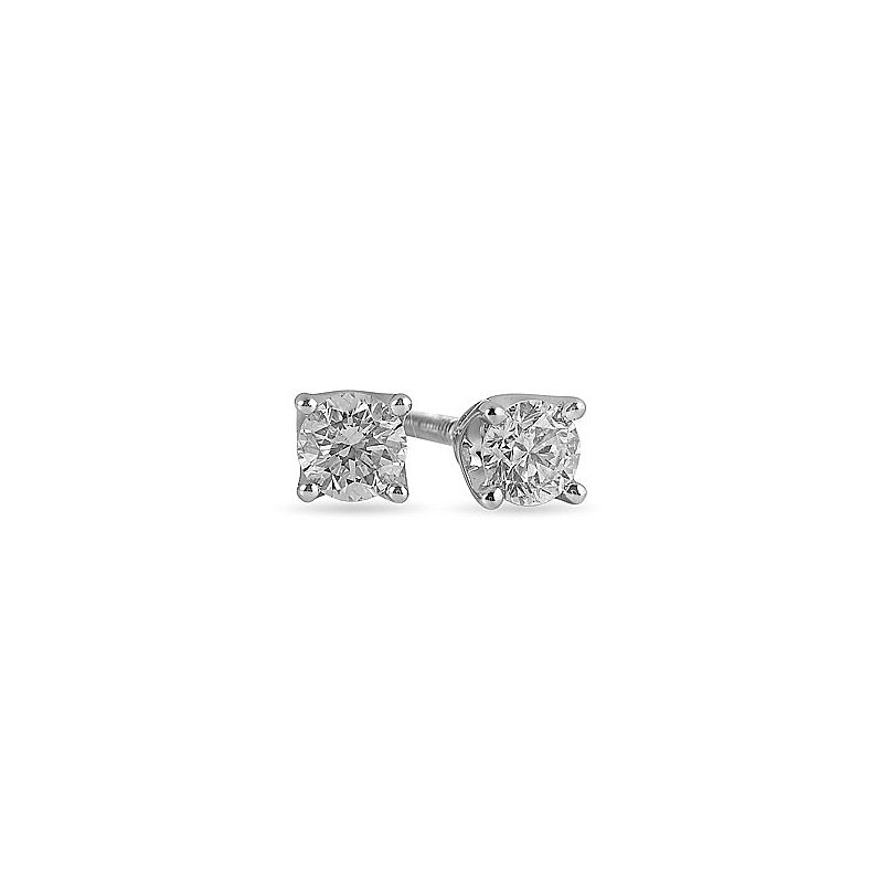 BB Impex 14K WG Diamond Stud E/R Tiara Coll. TDW 0.50 -for Moun
