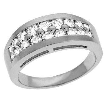 Platinum Prong Set Band