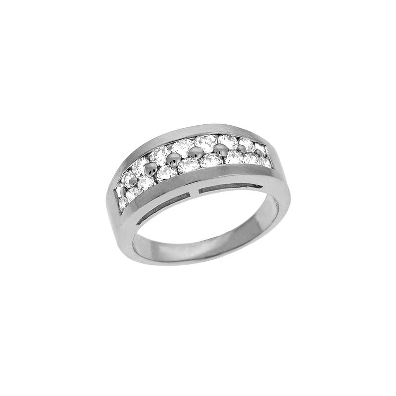 S. Kashi  & Sons Platinum Prong Set Band