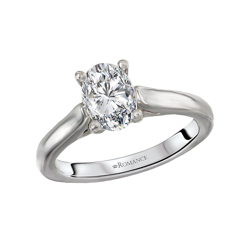 Romance Solitaire Semi-Mount Diamond Ring