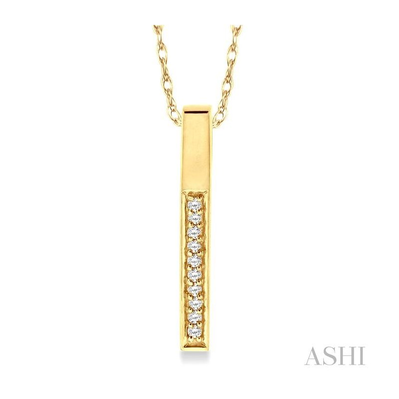 ASHI bar diamond pendant