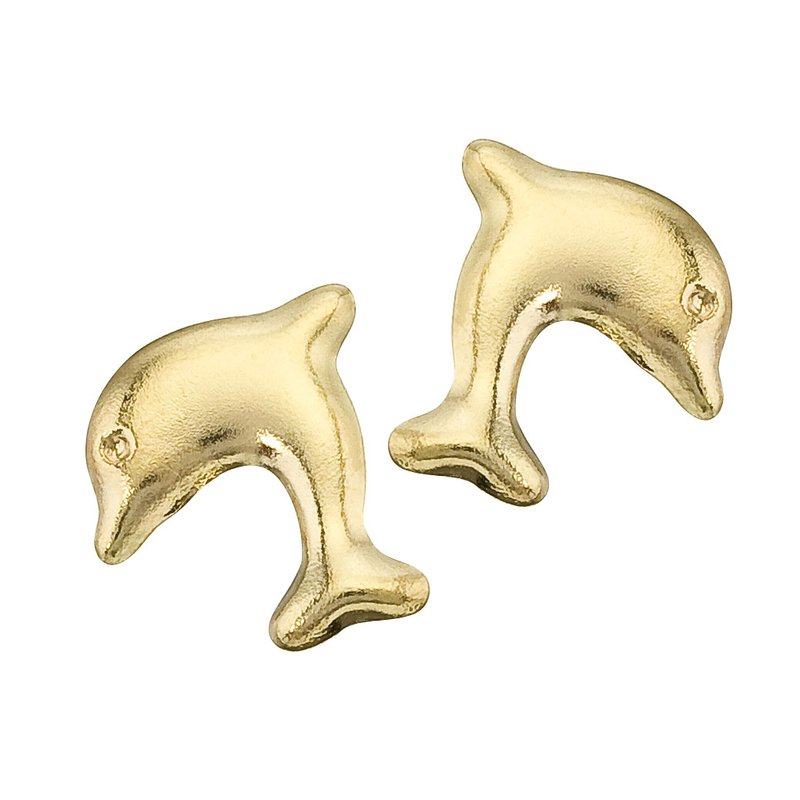 Marks Of Design Color Merchants 14k Yellow Gold Baby Dolphin