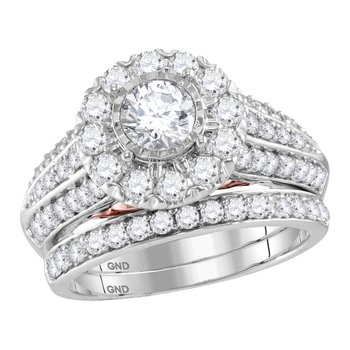 2CTW-DIA 14KT 1/2CT-CRD BRIDAL SET