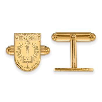 Gold-Plated Sterling Silver University of Memphis NCAA Cuff Links