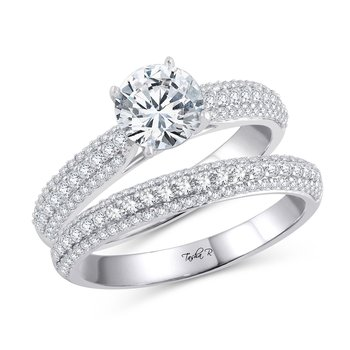 14K 0.83Ct Diam Semi Mount Ring