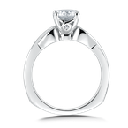 Valina Solitaire Engagement Ring Mounting in 14K White Gold (.02 ct. tw.)