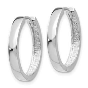 14k White Gold Hinged Earrings