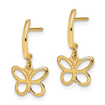 14k Madi K Butterfly Dangle Post Earrings