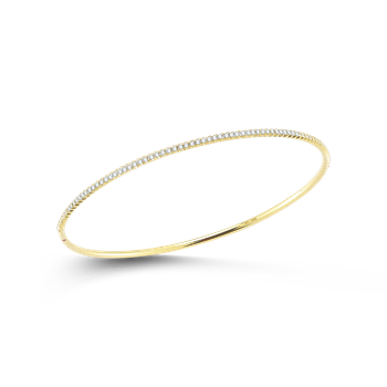 Bangle With Diamonds &Ndash; 18K Yellow Gold