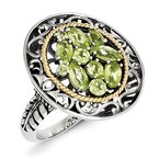 JC Sipe Essentials Sterling Silver w/14k Peridot Ring
