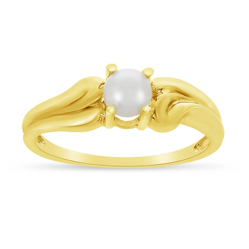 Color Merchants 14k Yellow Gold Freshwater Cultured Pearl Ring