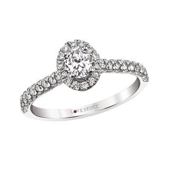 Oval Diamond Engagement Ring by Love Story