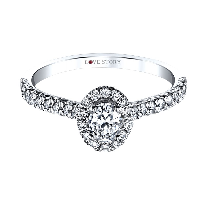 Love Story Diamonds Oval Diamond Engagement Ring by Love Story