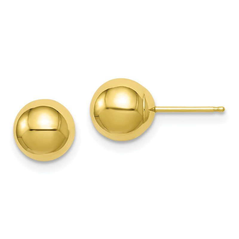 Quality Gold 10k Polished 7mm Ball Post Earrings