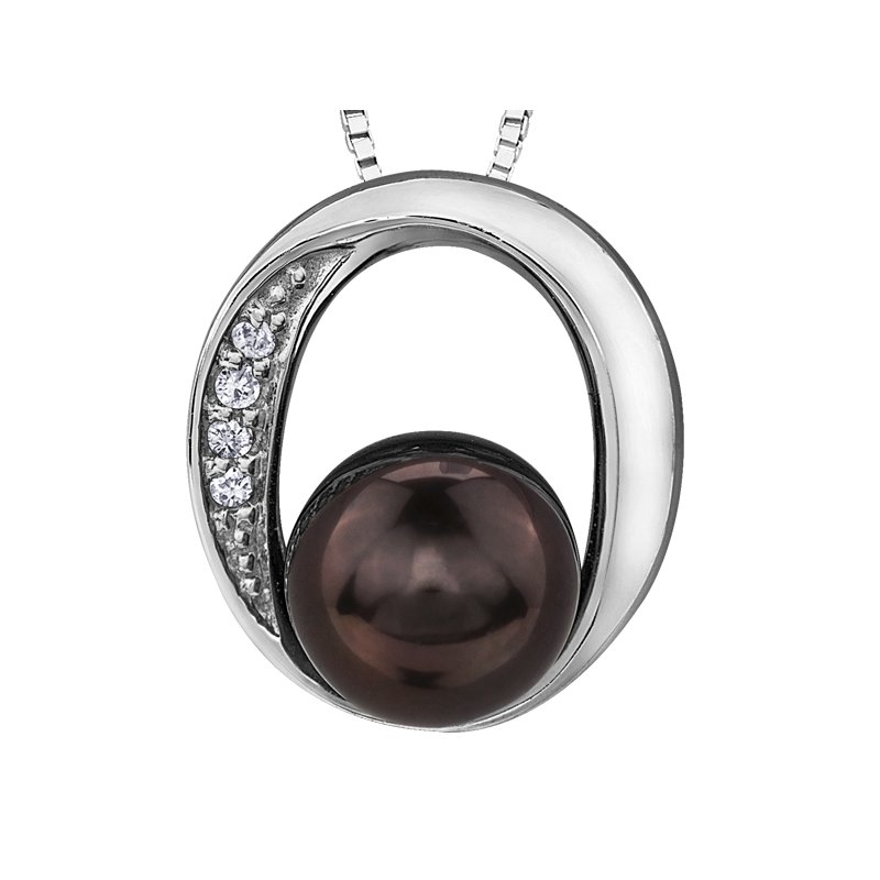 Diamond Days Black Pearl Pendant