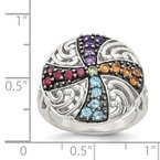 Shey Couture Sterling Silver w/ Black Rhodium Multi Gemstone Ring