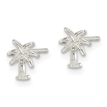 Sterling Silver Palm Tree Post Earrings