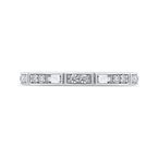 18K White Gold Round and Baguette Diamond Wedding Band