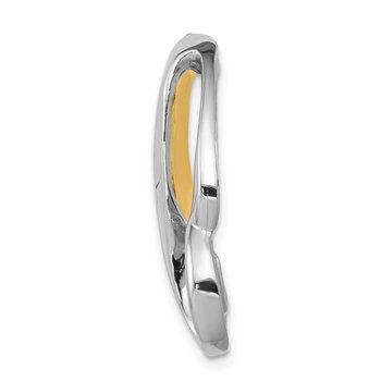 14k Two-tone Fits up to 6mm Omega, 8mm Reversible, Omega Slide
