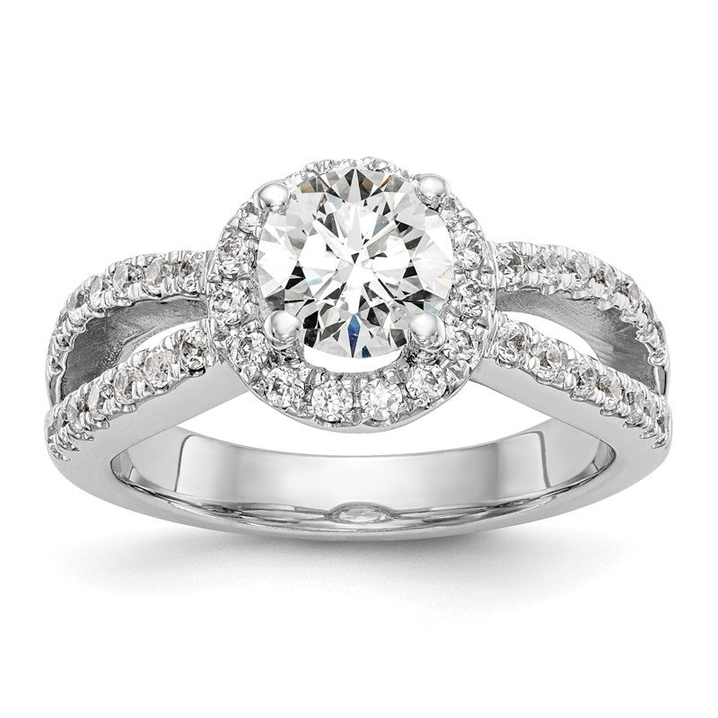 True Origin 14kw True Origin Lab Grown Diamond VS/SI, D E F, S/M Round Halo Eng. Ring