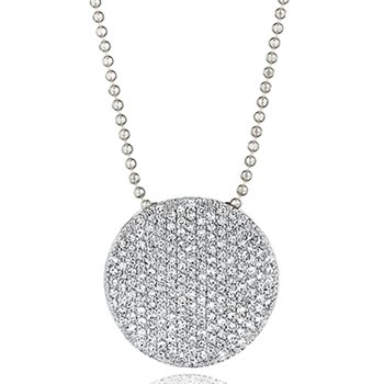 White gold diamond large Infinity necklace
